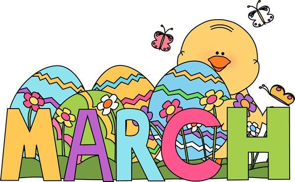 March Calendar Word Clipart #1.