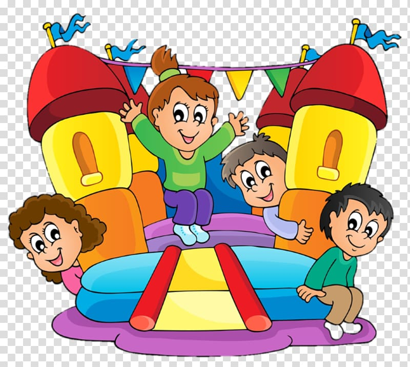 Inflatable Castle transparent background PNG cliparts free.