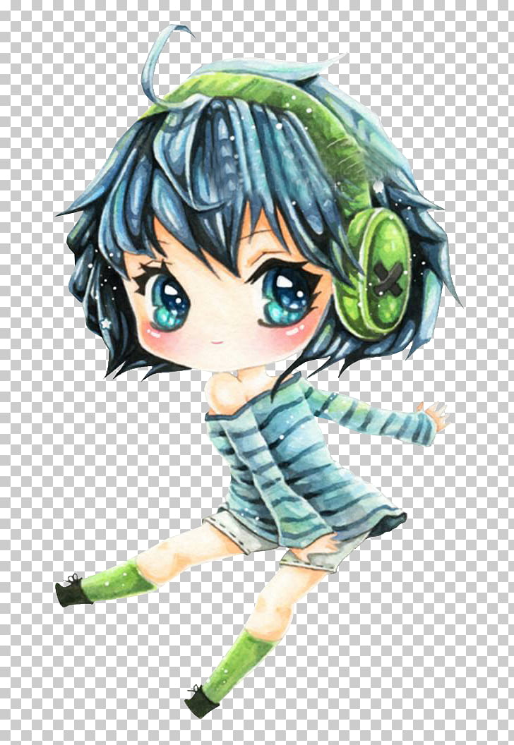 IPod Touch Anime Chibi, The girl in the winter PNG clipart.