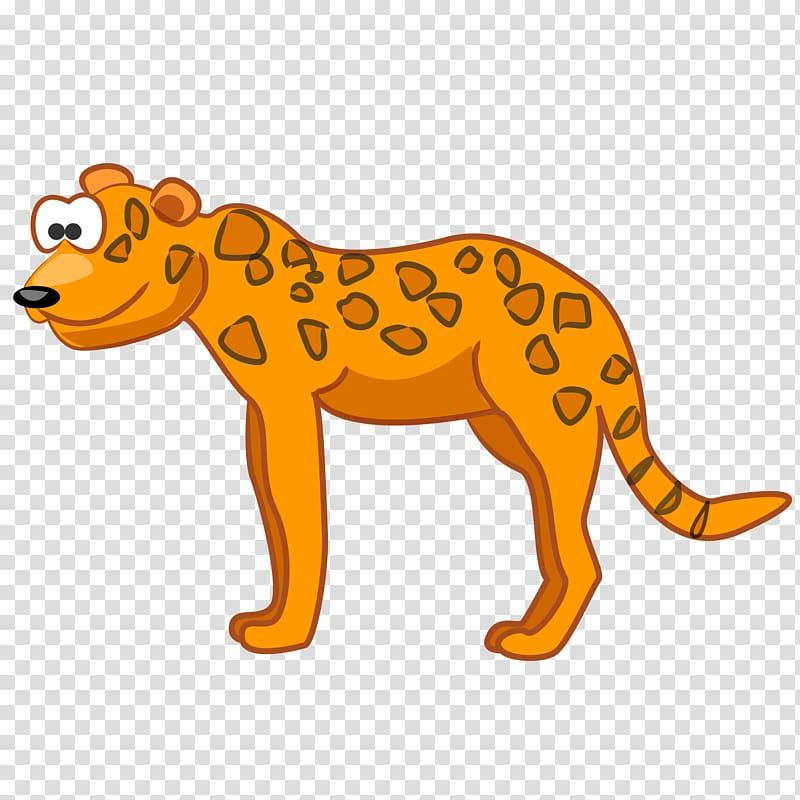 Leopard Cougar Jaguar Giraffe Cheetah, cartoon leopard.
