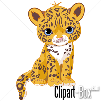 Cute baby jaguar clip art. Animal clip art from the clipart.