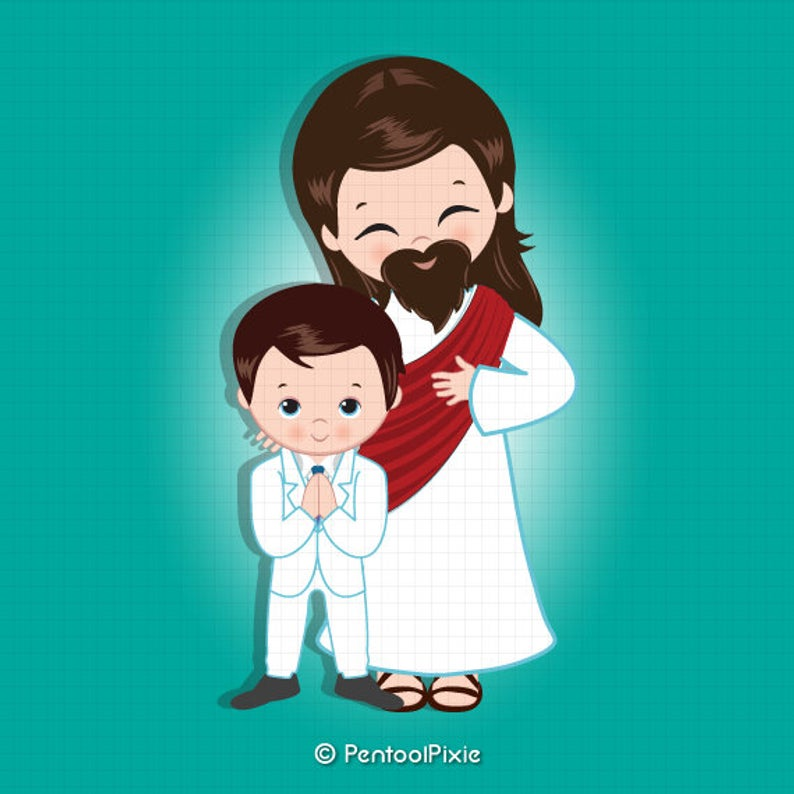 Jesus clipart, Jesus Christ, First communion clipart, Communion, Religious,  Sunday school clipart.