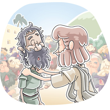 Christian clipArts _ Jesus healed a demon.
