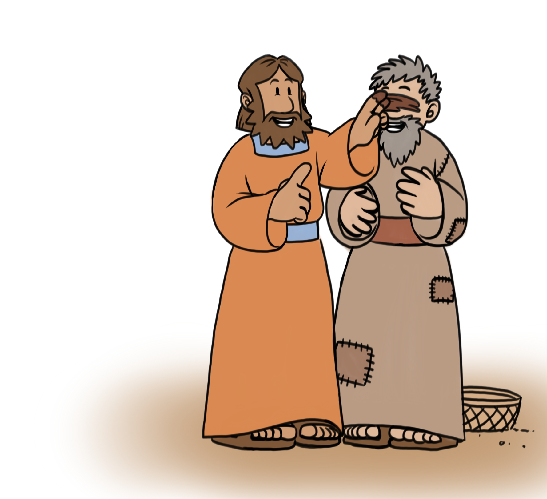 Jesus Heals The Blind Man Clipart at GetDrawings.com.