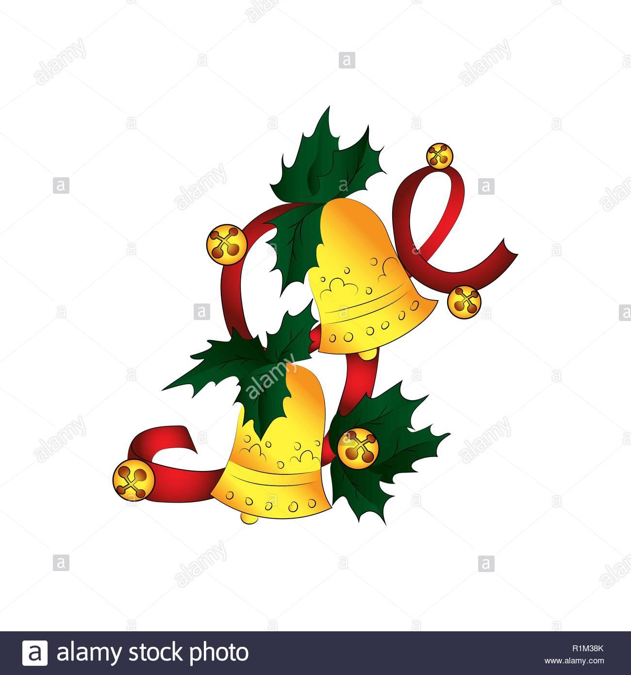 Jingle Bells. Vector color illustration Stock Vector Art.