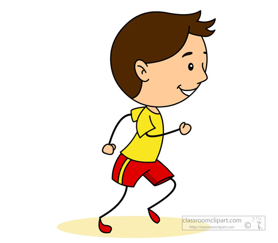 Jogging in Place Clipart.