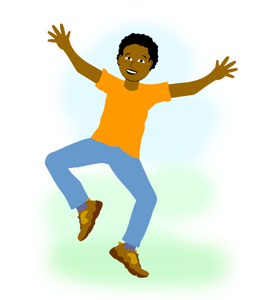 Animated Jumping for Joy Clipart Free.