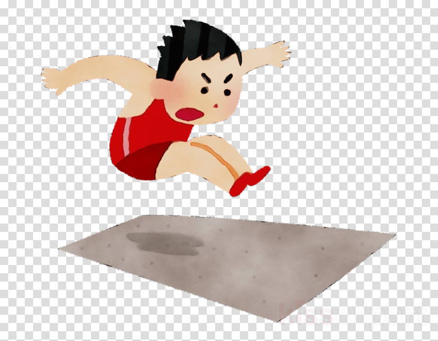 cartoon long jump jumping clipart.