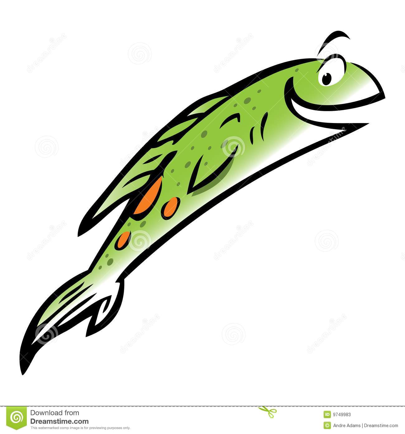 Jumping fish cartoon.