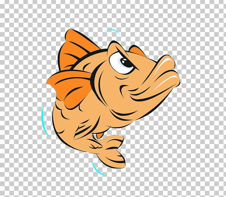 Cartoon Fish PNG, Clipart, Amphibian, Angry Fish, Animals.