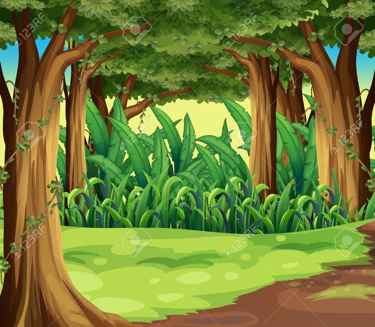 Cartoon Jungle Picture Background Clipart Jungle Background.