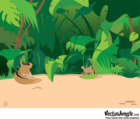 Jungle Scene Background Clipart Picture Free Download.