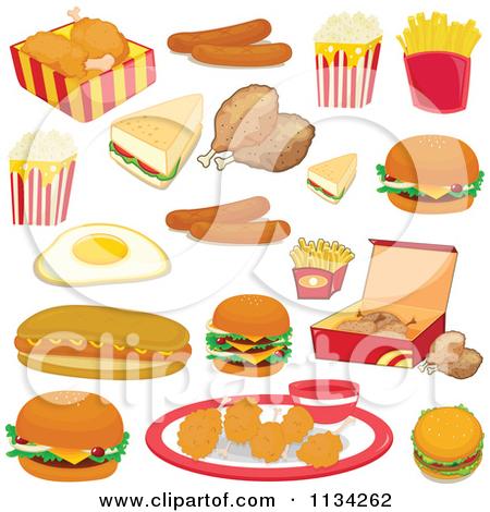Fast Food Cartoon Clip Art.
