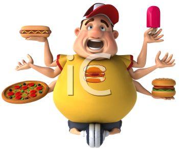 Junk Food 3d Clipart.