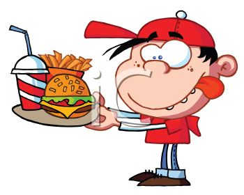 Clipart Fat People Eating Junk Food.