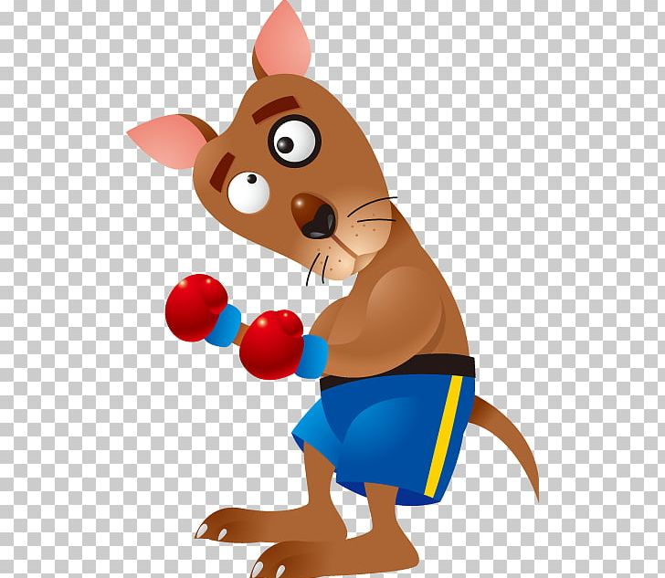 Boxing Kangaroo Cartoon PNG, Clipart, Animal, Animal.