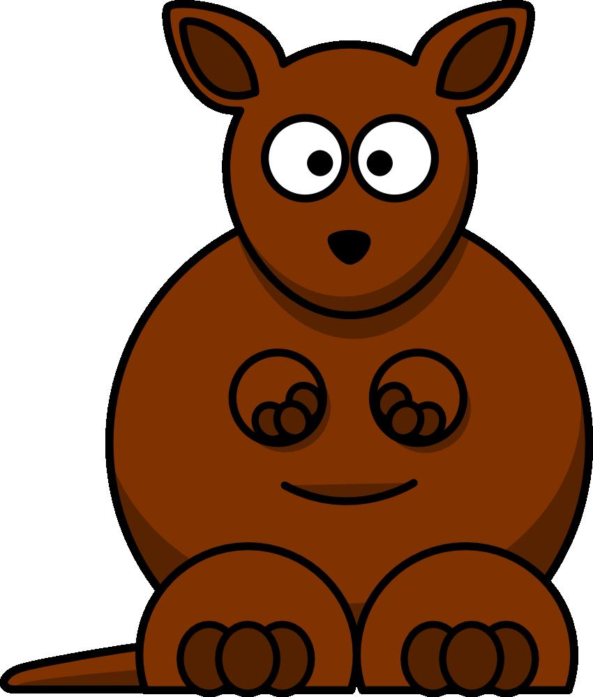 Kangaroo Cartoon clipart.