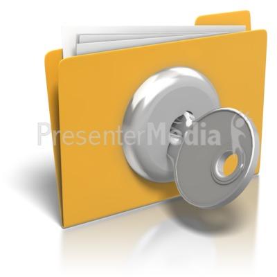 Folder Lock And Key.