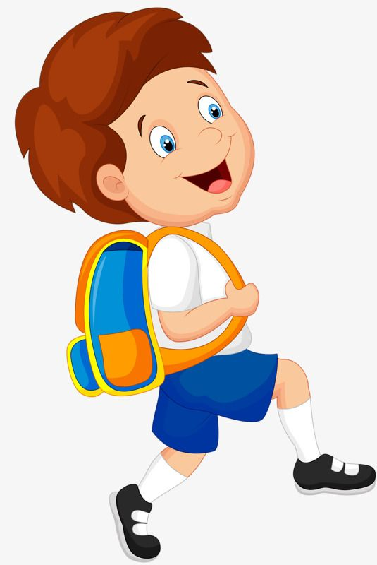 Boy Carrying A Bag, Bag Clipart, Boy Clipart, School Bag PNG.
