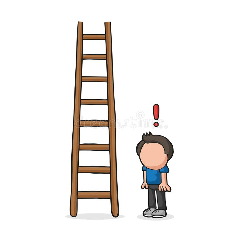 Cartoon Ladder Stock Illustrations.