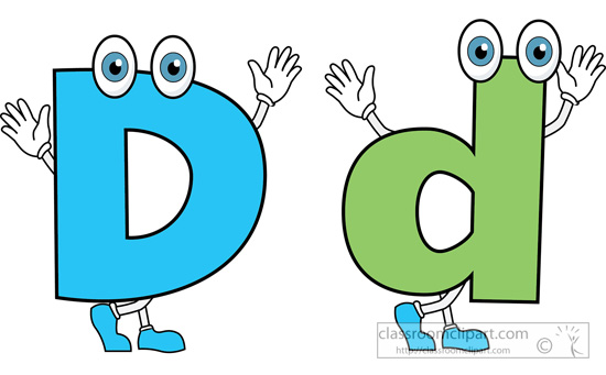 Cartoon letters clip art.