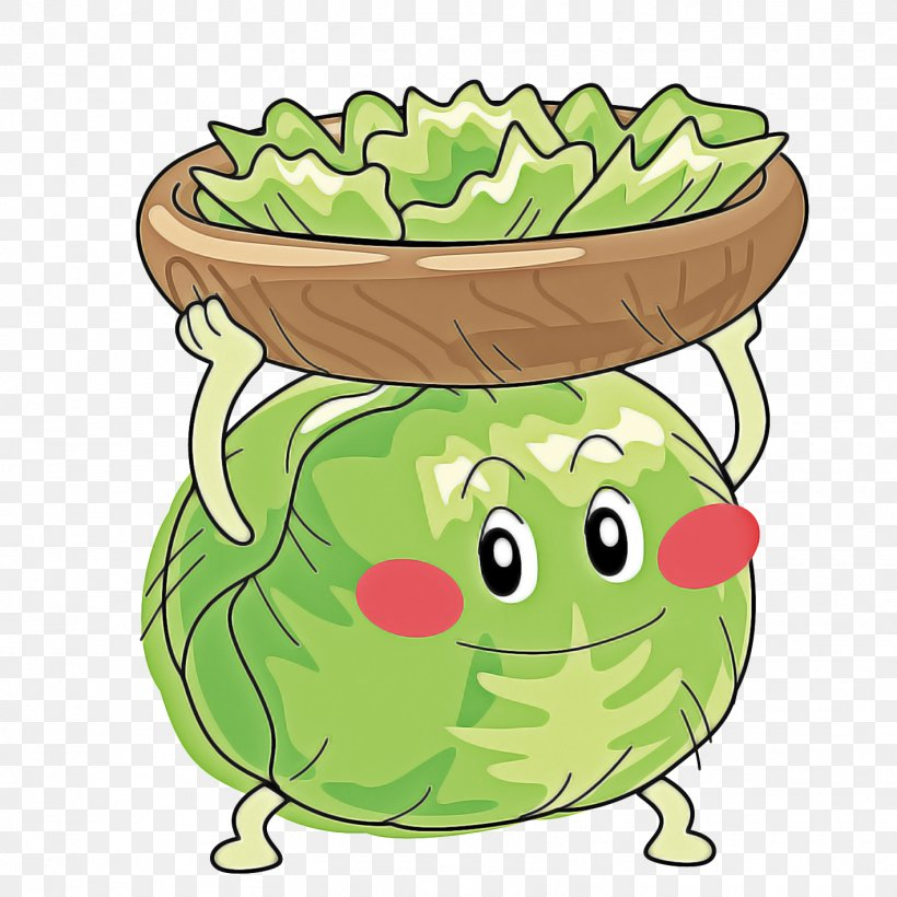 Green Cartoon Clip Art Vegetable Food, PNG, 1418x1418px.