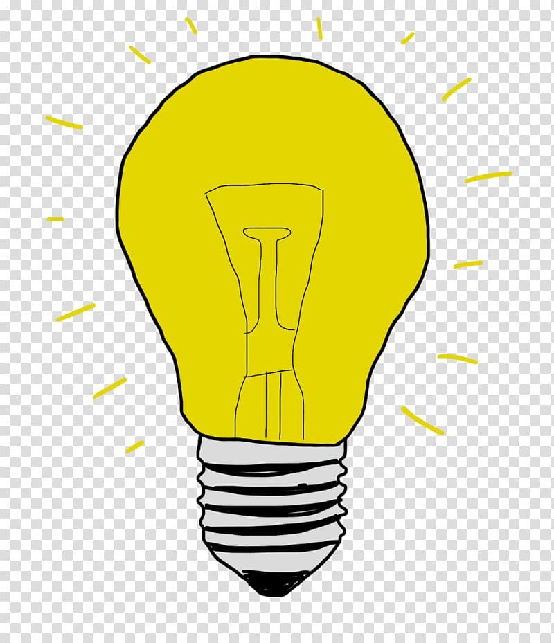 Incandescent light bulb Drawing Cartoon , light transparent.