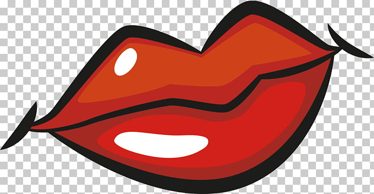 Cartoon Lip Drawing , Cartoon lips, red and black human lips.