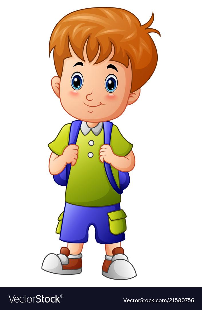 Cute little boy cartoon.