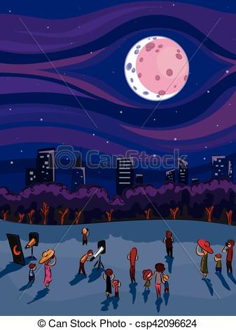 Animated Lunar Eclipse Clipart.