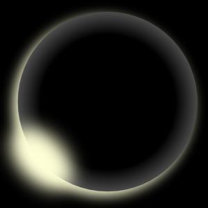 Moon Eclipse Clipart.