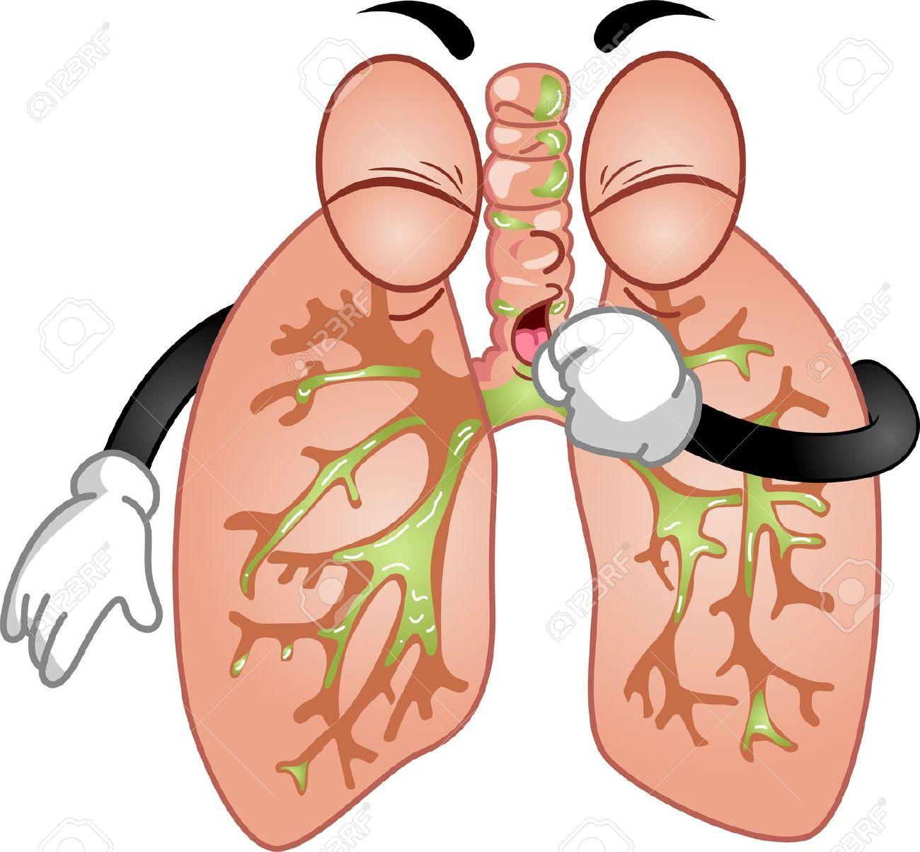 Lungs Cartoon Clipart.