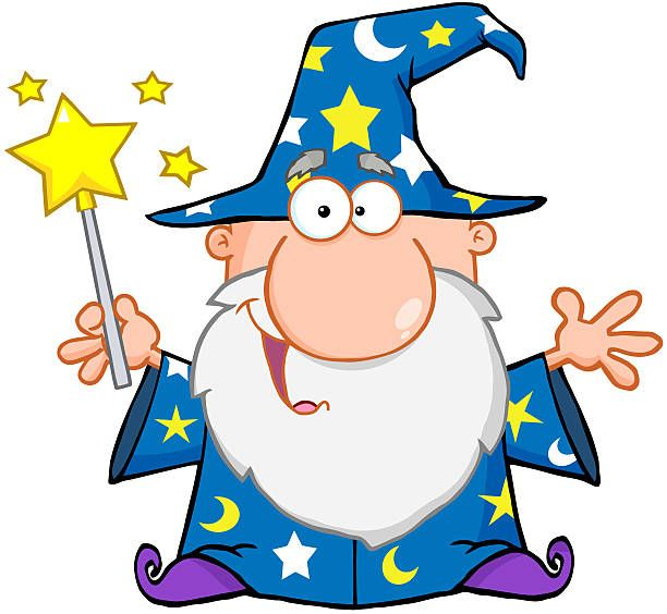 Funny Wizard Waving With Magic Wand in 2019.