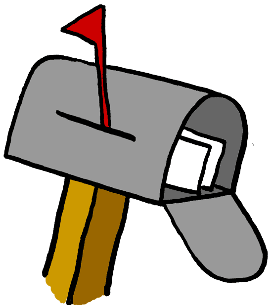 Animated mailbox clipart.