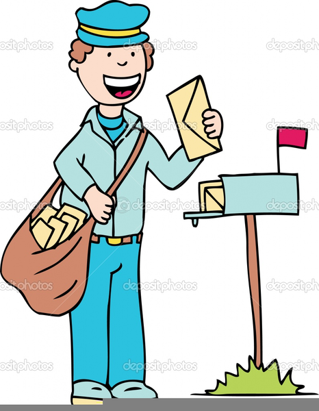 Animated Mailman Clipart.