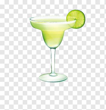 Cocktail in margarita wine glass, Cocktail Margarita Martini.