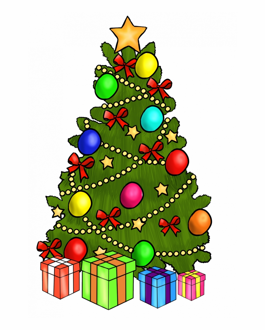 Clipart Animated Merry Christmas Christmas Tree.