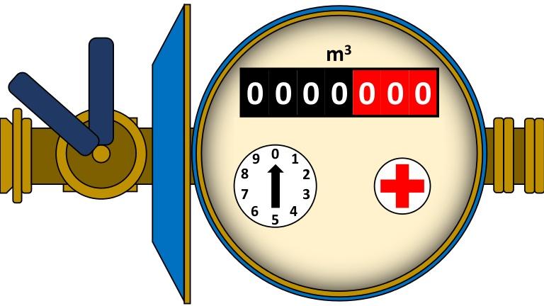 Water Meter Clipart.