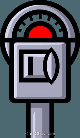 Symbol of a parking meter Royalty Free Vector Clip Art.