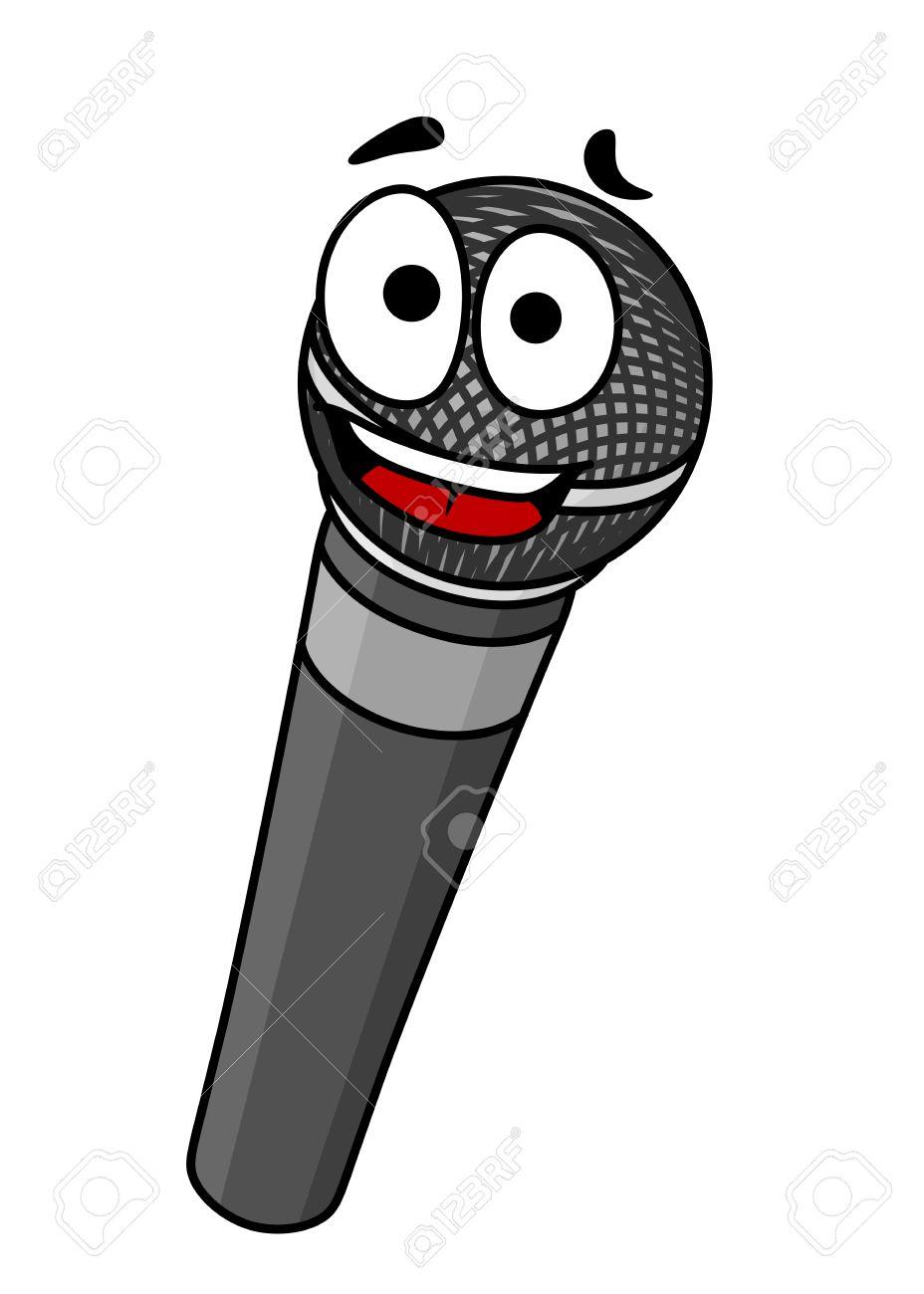 Microphone Cartoon Clipart.
