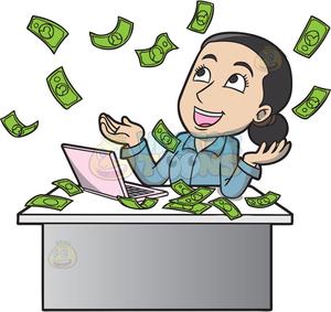 Animated Raining Money Clipart.