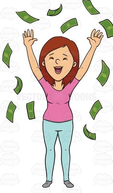 Raining Money Clipart.