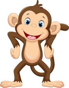 Cute Monkey Clip Art.