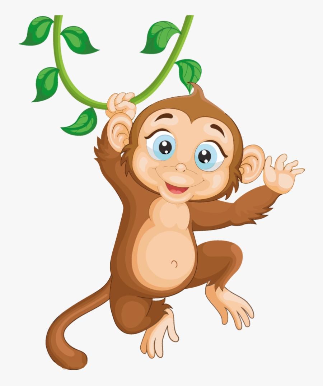 Monkey Mon Clipart Cartoon Transparent Png.