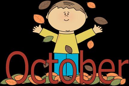 Autumn October Month Clip Art.