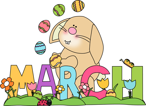 Month of March Easter Bunny.