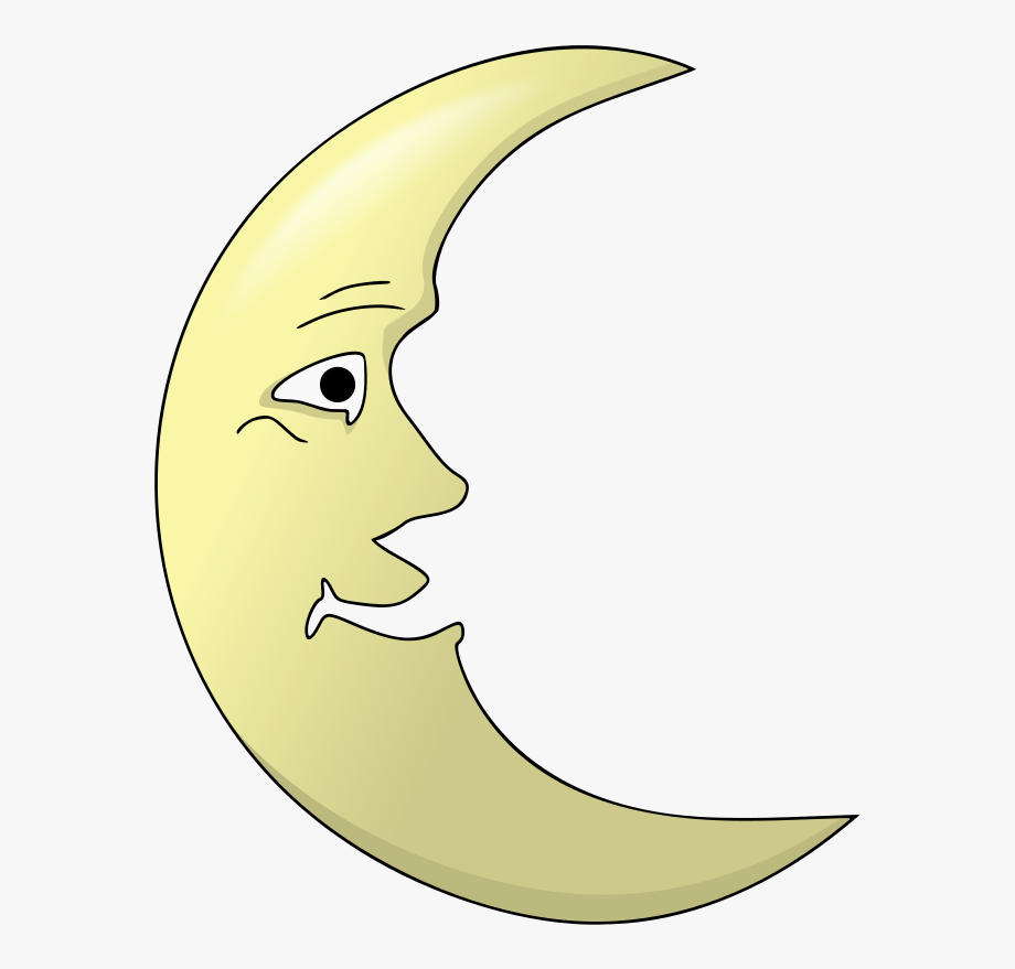 Crescent Face Illustration And.