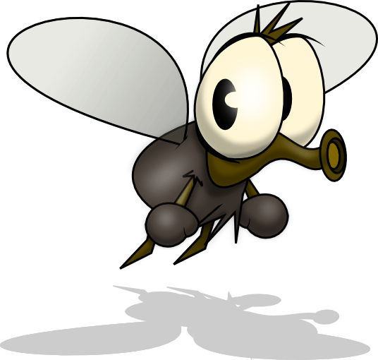 Animated mosquito clipart.
