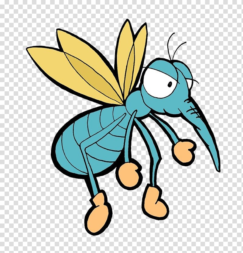 Mosquito Cartoon Animation, Mosquito transparent background.