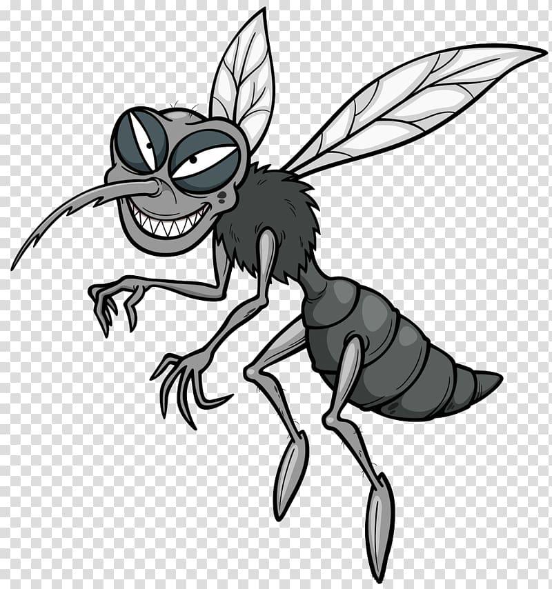 Gray mosquito illustration, Mosquito Cartoon , Mosquito.